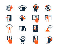 Business icon set. Software and web development, marketing Stock Images