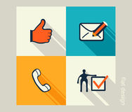 Business icon set. Software and web development, marketing Stock Photo
