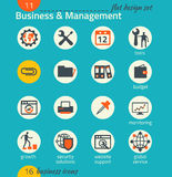 Business icon set. Software and web development, marketing Royalty Free Stock Images