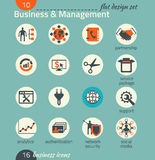 Business icon set. Software and web development, marketing Royalty Free Stock Photos