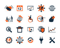 Business icon set. Software and web development, marketing Stock Image