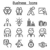 Business icon set in thin line style. Vector illustration graphic design Stock Photo