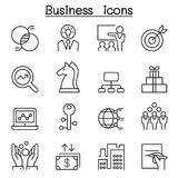 Business icon set in thin line style. Vector illustration graphic design Royalty Free Stock Photos