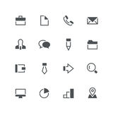 Business icon set. Business vector icon set - different grey symbols on the white background Stock Images
