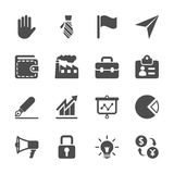 Business icon set, vector eps10.  Royalty Free Stock Photos