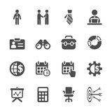 Business icon set, vector eps10 Stock Photography
