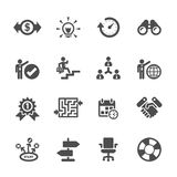 Business icon set, vector eps10 Royalty Free Stock Images
