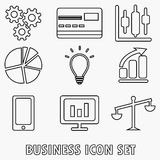 Business icon set. Vector illustration Stock Image
