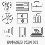 Business icon set. Vector illustration Stock Images