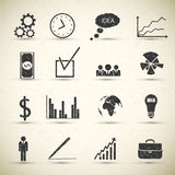 Business icon set. Royalty Free Stock Photo