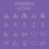 Business icon set. Royalty Free Stock Images