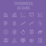 Business icon set. Royalty Free Stock Image