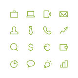 Business icon set Royalty Free Stock Photo