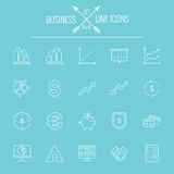 Business icon set Stock Photos