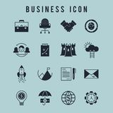 Business icon set. For web design and application interface, also useful for infographics. Vector illustration Royalty Free Stock Image