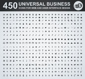 450 Business icon set. Business icon set for web and user interface stock illustration
