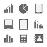 Business icon set on white background Royalty Free Stock Photo
