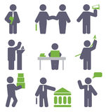 Business icon set Stock Photography
