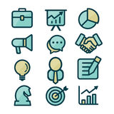 Business Icon Set. Youthful and modern business icon set Royalty Free Stock Photo