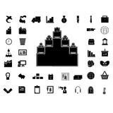 40 business icon  silhouette isolated. Stock Photography