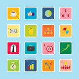Business icon sticker series Royalty Free Stock Photos