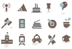 Business icon 06. There are simple icons related to communication, business and media royalty free illustration