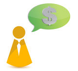 Business icon thinking in money Royalty Free Stock Photography