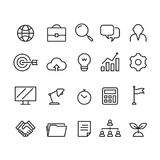 Business icon, vector. Business icon on white background Royalty Free Stock Photography