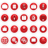 Business icon web buttons. Set of business icons web buttons Stock Images