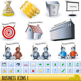 Business icons 1 Stock Image