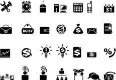 Business icons. Big set of black web icons. Business internet icons Stock Image