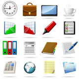 Business icons. Business and office icons set Royalty Free Stock Photography