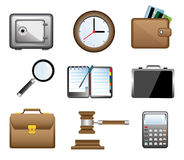 Business Icons. Nine colorful icons for business Stock Photo