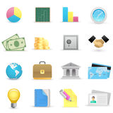 Business icons. On a white background Stock Photo