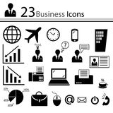 Business icons (). The person at office. Office affairs. Business trip Stock Photography