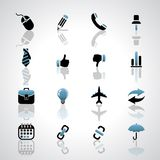 Business icons. Vector business icons on gray background Royalty Free Stock Image