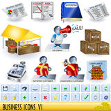 Business icons 6 Stock Images