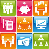 Business_icons Immagini Stock