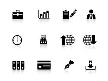 Business icons. Business icon set with shadows from a series Royalty Free Stock Photography