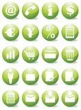 Business icons. Vector business web icon set royalty free illustration