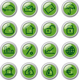Business icons. Set financial business of buttons stock illustration