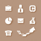Business icons. Authors illustration in vector Royalty Free Stock Image