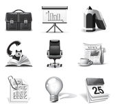 Business icons | B&W series Stock Photo