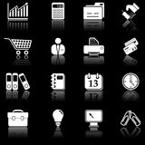 Business icons - black series Stock Images