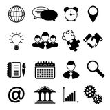 Business Icons Black Royalty Free Stock Photos