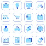 Business icons - blue series. Set of business icons - blue series Stock Image