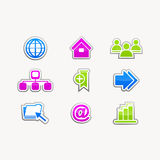 Business icons buttons internet website set Royalty Free Stock Photo