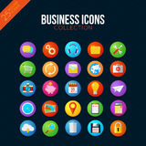 Business icons collection. Smart watch ui style. 25 vector items Stock Images