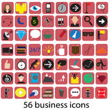 56 business icons Royalty Free Stock Photo
