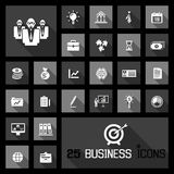 Business icons concepts. 25 business icons concepts black white vector Stock Image